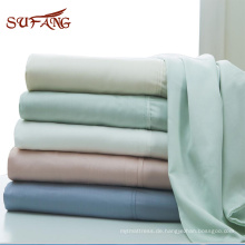 Amazon hot selling pleat design tencel duvet cover bedding set in multiple colors