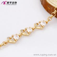 73923- Xuping Jewelry Fashion 18K plaqué or femme en laiton Bracelet avec diamant