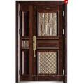 2015 году новый дизайн стали одной и половину дверное полотно двери KKD-911B с высоким качеством алюминия готовой