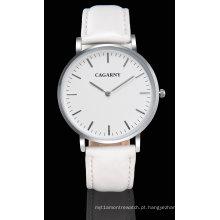 Relógio de pulseira de couro slier relógio de pulso para unisex