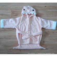 (BC-KB1007) Hot-Sell 100% Cotton Terry Kids Cute Bathrobe