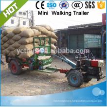 load 1.5 ton mini farm trailer, truck trailer with best price