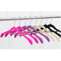 dress velvet flocked hanger with notches and bar prevents slipping steel swivel hook