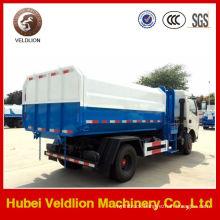 Dongfeng 5cbm Hydraulic Lifter Waste Truck