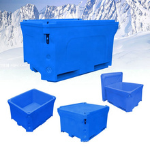 800L fish holding container Durable plastic PE dry ice bin shipping container for dry ice