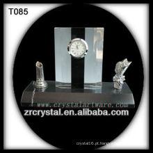 Maravilhoso K9 Crystal Clock T085