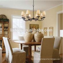 Modern Decorative Hanging Lighting Wrought Iron Chandelier Pendant Lamp