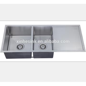 Stainless Steel Square Undermount Kitchen Handmade Sink for American Kitchen