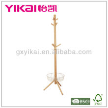 Functional Solid Wood roupas Valet Stand