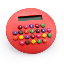 8 Digits Hamburger Calculator with Colorful Button