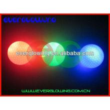 luz verde brilho bolas de golfe venda quente 2016