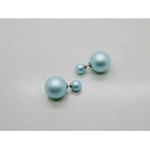 Простые два шарика серьги Корея Дизайн моды ювелирных изделий