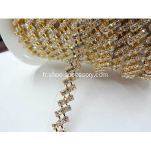Strass Roll Diamond Fermer Coupe Chaîne strass