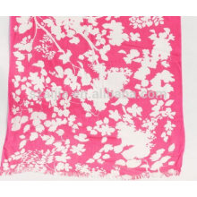 Fashion women 100 viscose red floral scarf