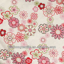 Dying + Coated Printing 100 Cotton Twill Printed Fabric
