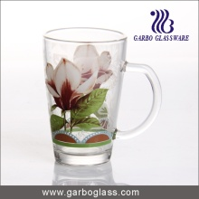 12oz Printed Glass Cup with Handle (GB094212-HCS-118)