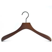Beech wood clothes display coat hanger with black gun hook