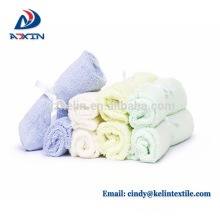 China factory supply bamboo fiber baby washcloths white super soft