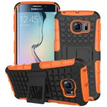 Rugged Hybrid Kickstand Combo Phone Case for Samsung S6