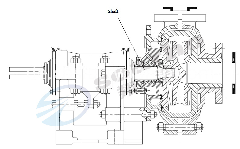 horizontal pump shaft