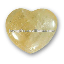 Puffy Heart shaped Honey Onyx stone 35MM