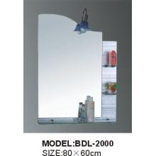 Miroir de salle de bain en verre argenté d'épaisseur 5 mm (BDL-2000)