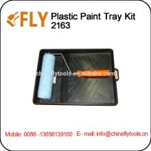 plastic paint tray kit painting roller brush