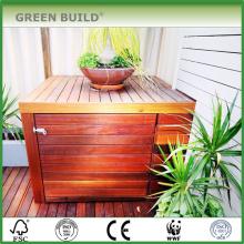 Color rojo apenado Antideslizante Merbau madera dura cubierta de jardín