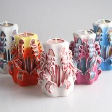 Velas decorativas artesanais entalhadas à mão e personalizadas