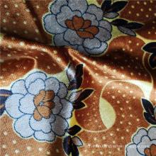 Pattern Printed 100% Polyester Velvet Fabric