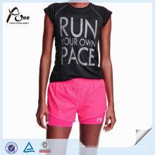 Shorts de course en gros respirant léger fait sur commande populaire de femmes extensibles