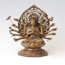 Buddha-Statue Avalokitesvara Die Tausend-Hand-Bodhisattva-Bronze-Skulptur Tpfx-081