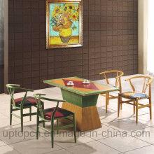 Деревянная мебель ресторана набор с красочными изменение стула и стол прямоугольный (СП-CT689)
