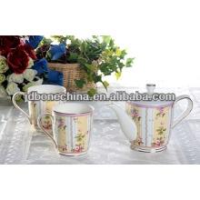 Australia Juego de té ruso del café del estilo taza y platillo de la cena del platillo sistema determinado del café de la melamina de cerámica
