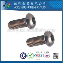 Hecho en Taiwán Acero inoxidable ISO7380 M3X10 Cabeza de botón HEX Tornillos de casquillo de zócalo
