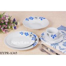 blue and white porcelain Round Dinner Set