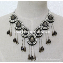 Woman Fashion Charm Glass Crystal Pendant Collar Necklace Jewelry (JE0205)