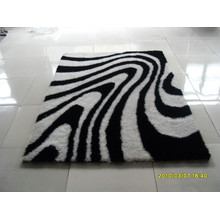 Textile 100% Polyester Plush Silk Shaggy Plain Carpet Rug