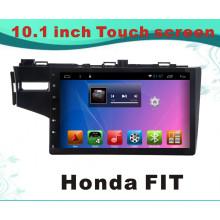 Système Android GPS Navigation voiture DVD pour Honda Fit 10,1 pouces Capacitance écran avec Bluetooth / TV / WiFi / USB