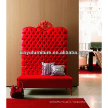 Hot sale red high back loveseat for eventing 007