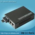 Conversor rápido de Digitas dos meios da fibra óptica ao conversor óptico dos meios do conversor analógico com porta 2 RJ45