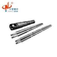 51/105 55/110 55/120 65/132, 80/156 conical twin screw barrel in stock