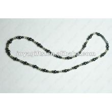 Ожерелье из магниевого гематитового сплава из бисера