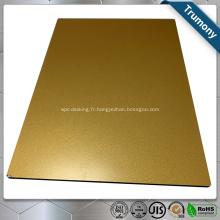 Panneau composite en aluminium revêtu de couleur PVDF pour la construction