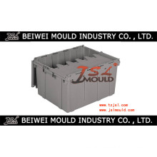 Injection Plastic Tote Box with Hinged Lid Mould