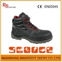 Sapatos de trabalho em couro, sapatos de segurança confortáveis, sapatos de segurança de aço inoxidável RS012