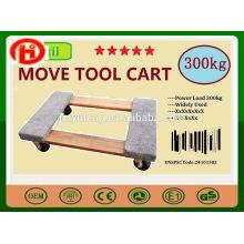 Dolly chariot plat en bois mobile chariot / chariot mobile panier d'outils pour matériel électrique, meubles