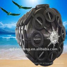 Almofada de oceano estilo netted de pára-choque de borracha Pneumática