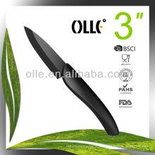 3 Inch Black Blade Ceramic Vegetable Carving Knife