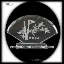 Вентилятор к9 в форме кристалла с пескоструйной обработкой изображения